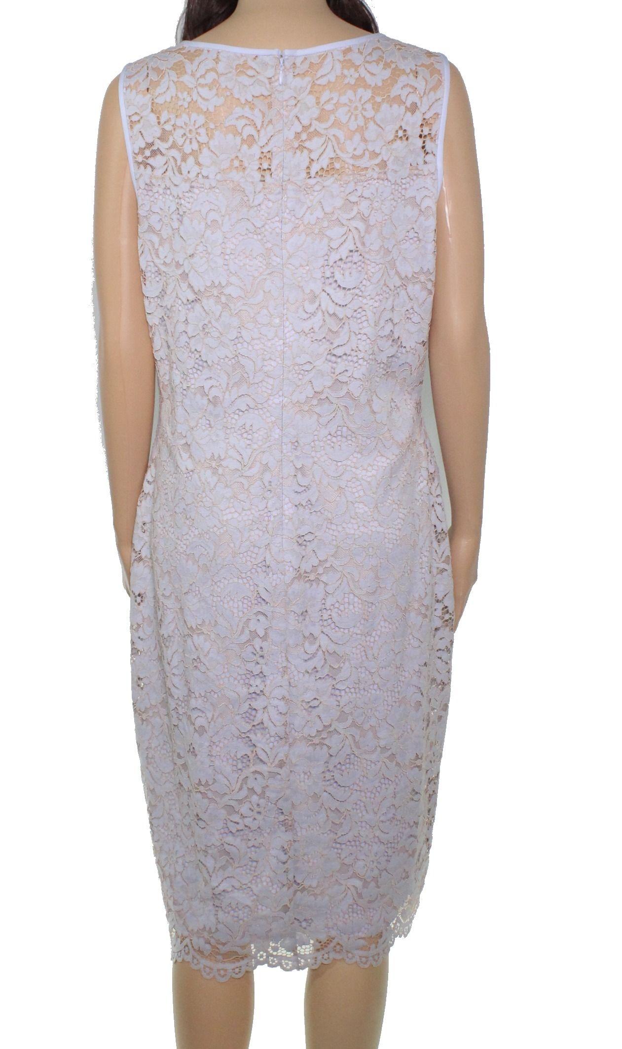 Lauren By Ralph Lauren Women's Dress Blue Size 12 Sheath Floral Lace