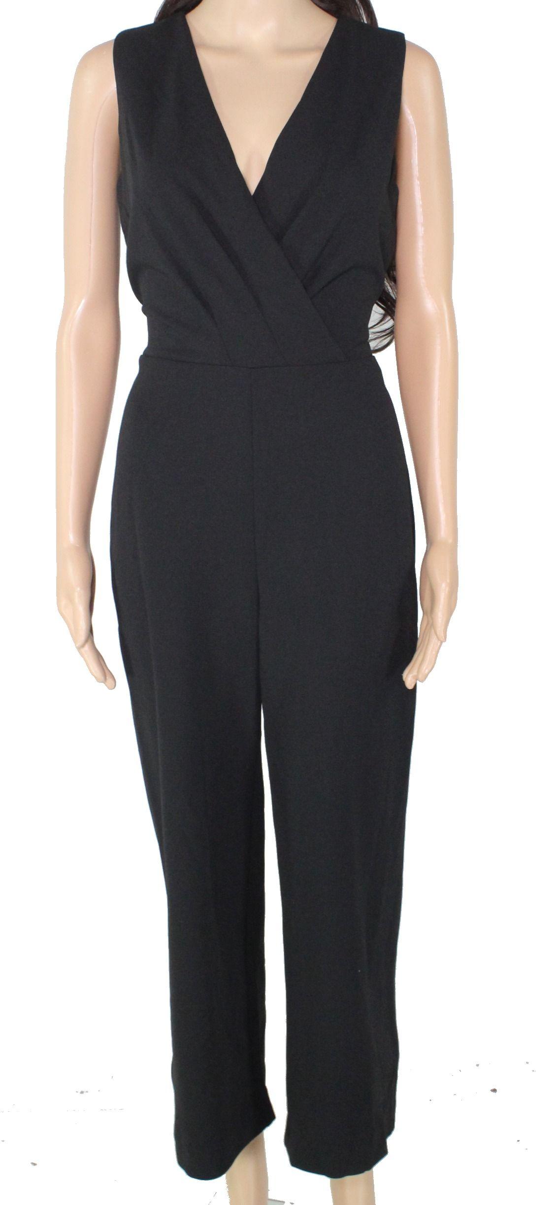 Lauren by Ralph Lauren Women's Jumpsuit Classic Black Size 4 Surplice