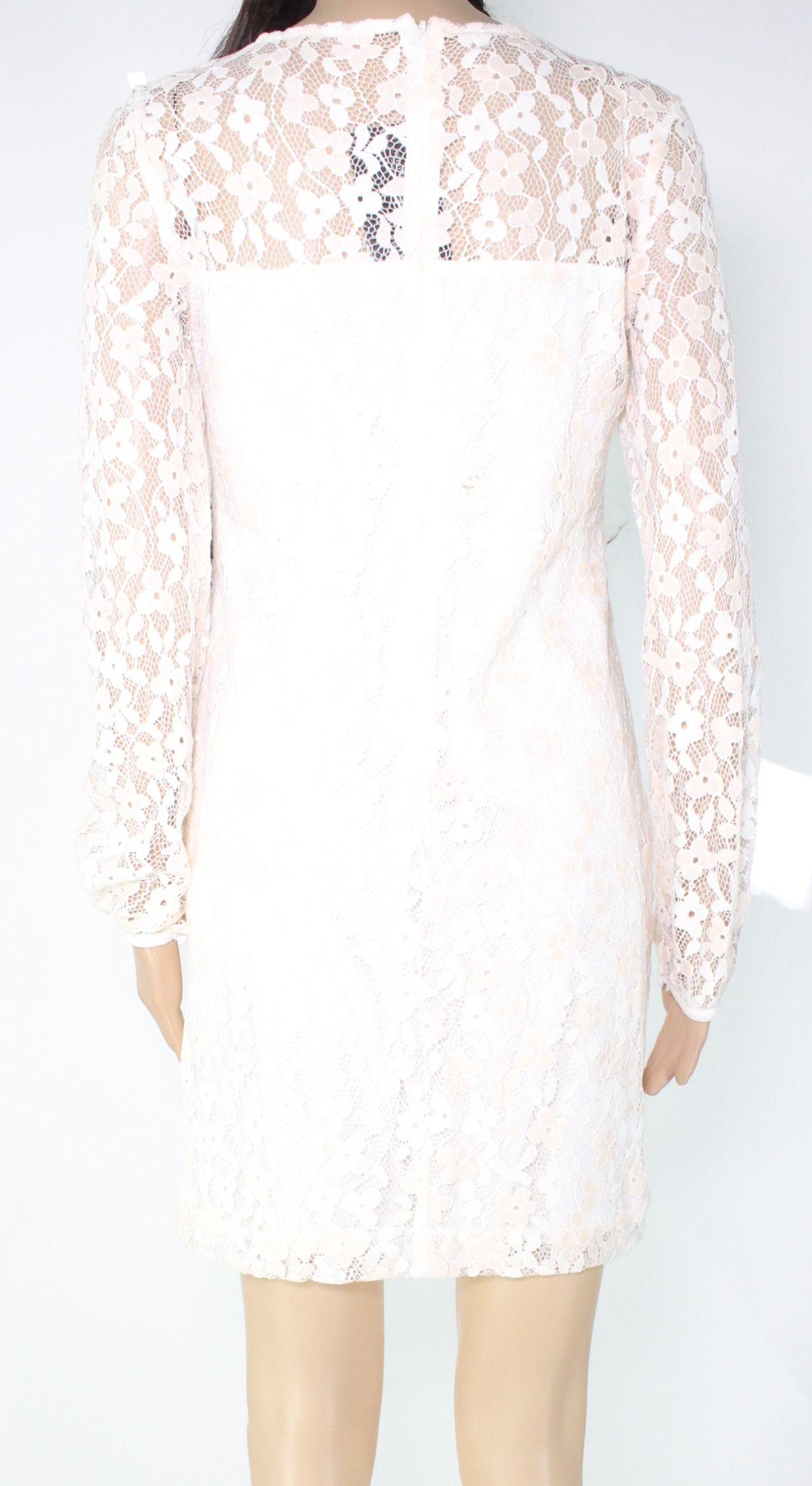 Lauren by Ralph Lauren Women's Dress Beige Size 2P Petite Sheath Lace
