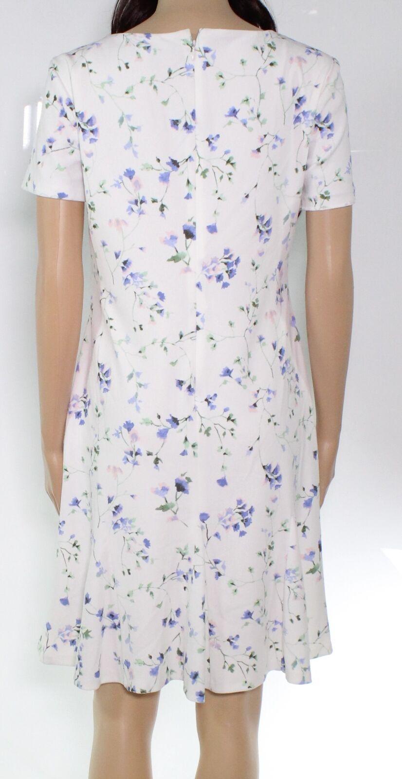 Lauren By Ralph Lauren Women's Dress White Size 12 A-Line Ditsy