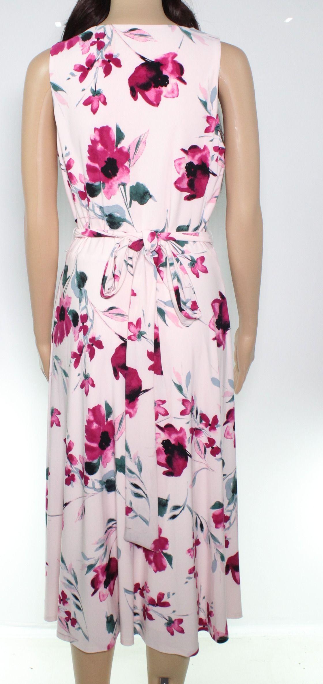 Lauren By Ralph Lauren Women's Dress Pink Size 8 A-Line Floral Print