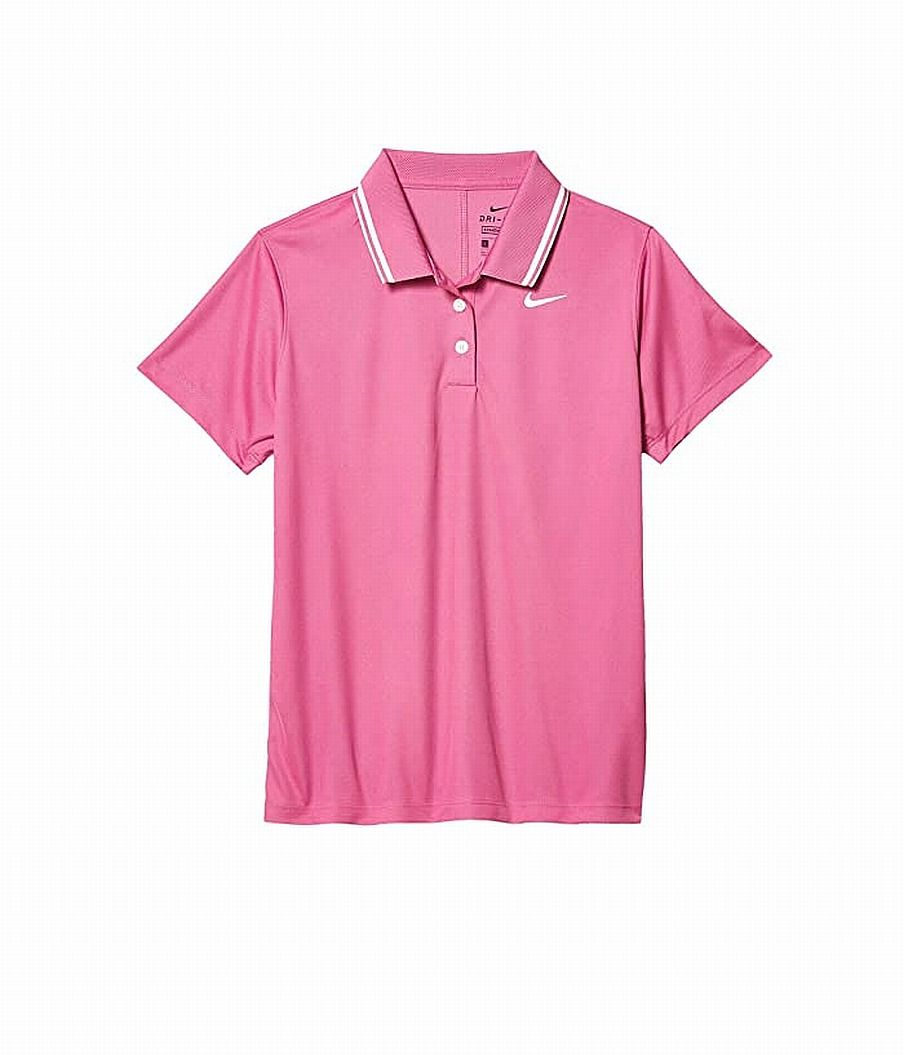 Nike Girl's Shirt Pink Size XL Standard Dri-Fit Short Sleeve Golf Polo
