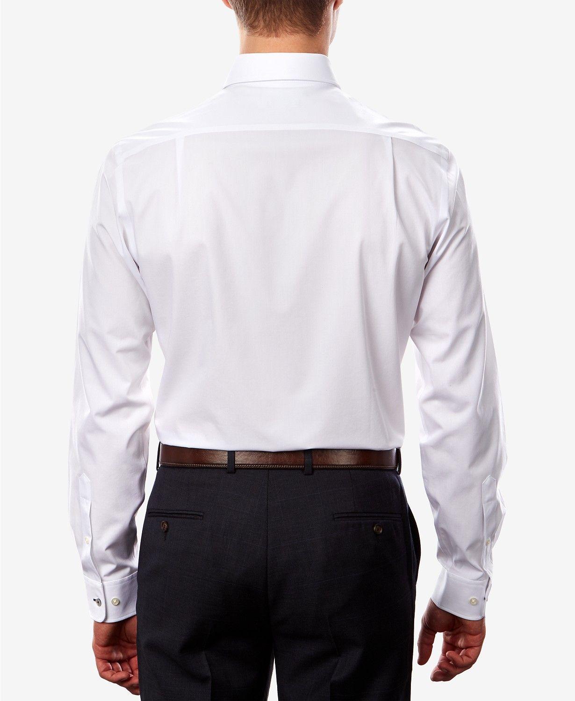 Tommy Hilfiger Mens Dress Shirt Silver Size 16 1/2 Athletic Fit Th Flex