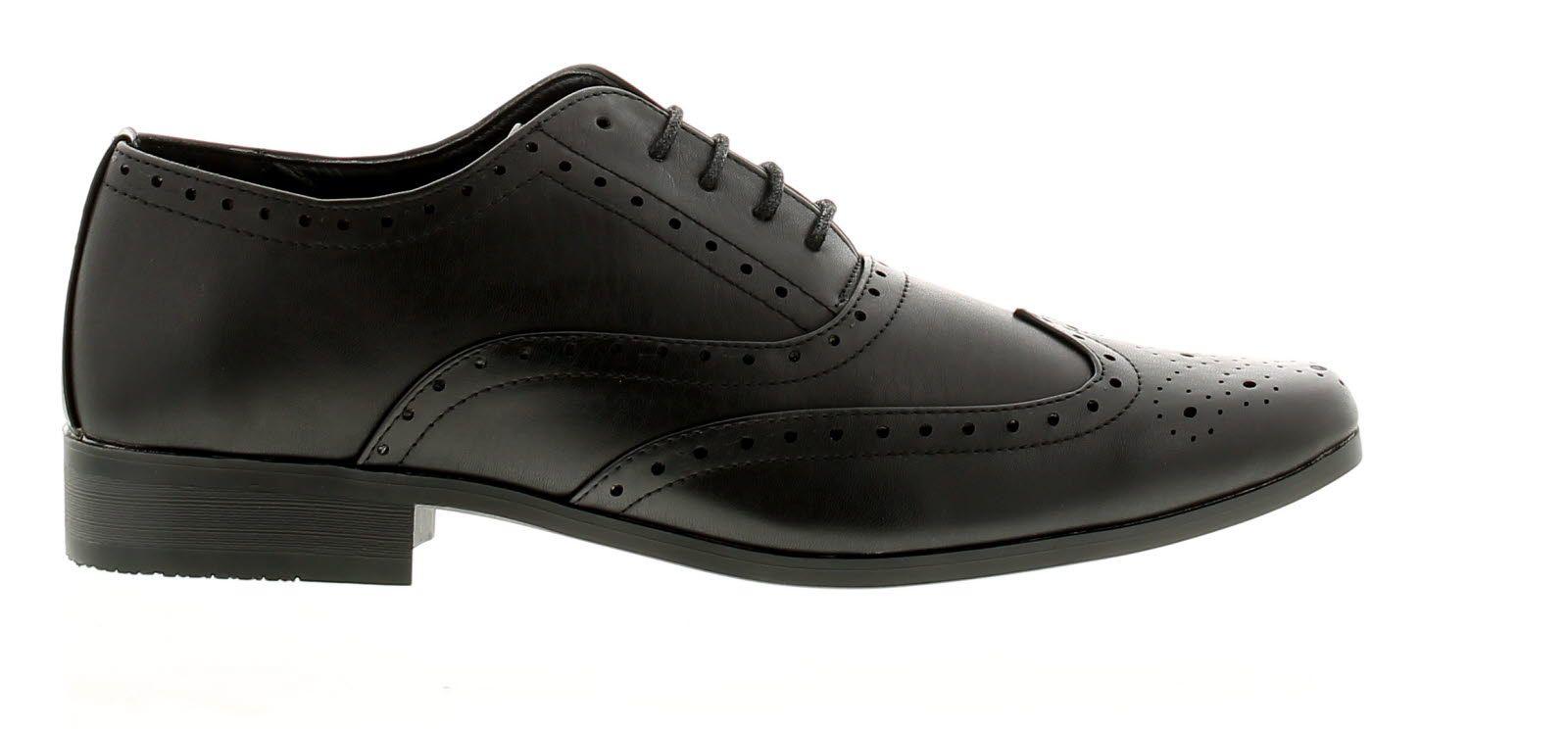 Mens Pu Brogue Effect Tie Shoe