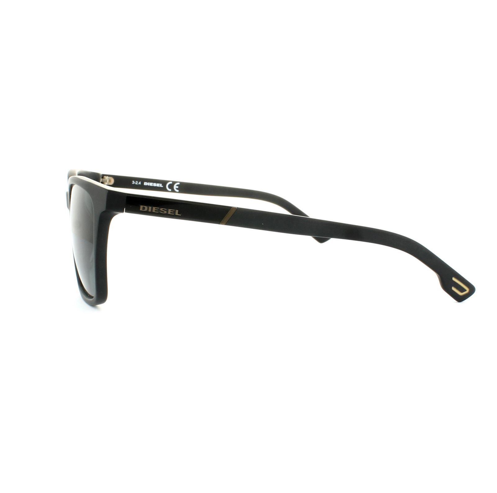 Diesel Sunglasses DL0122 02N Black Grey Smoke