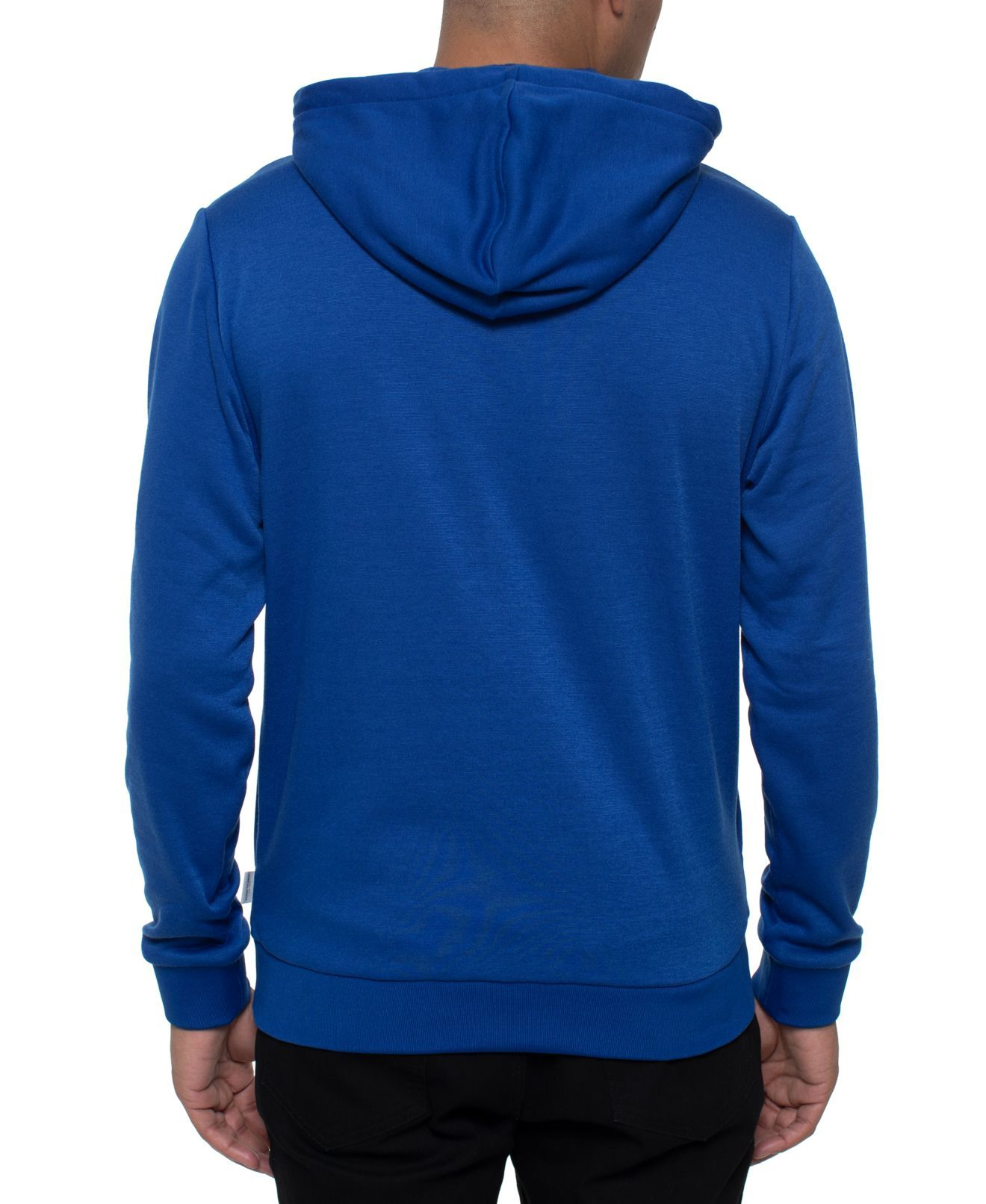 Kenneth Cole Mens Sweater Royal Blue Size Large L Logo Front Hoodie