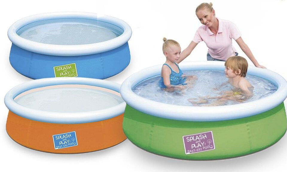 Bestway My First Fast Set Pool Set Assorted Colours  - 38cm