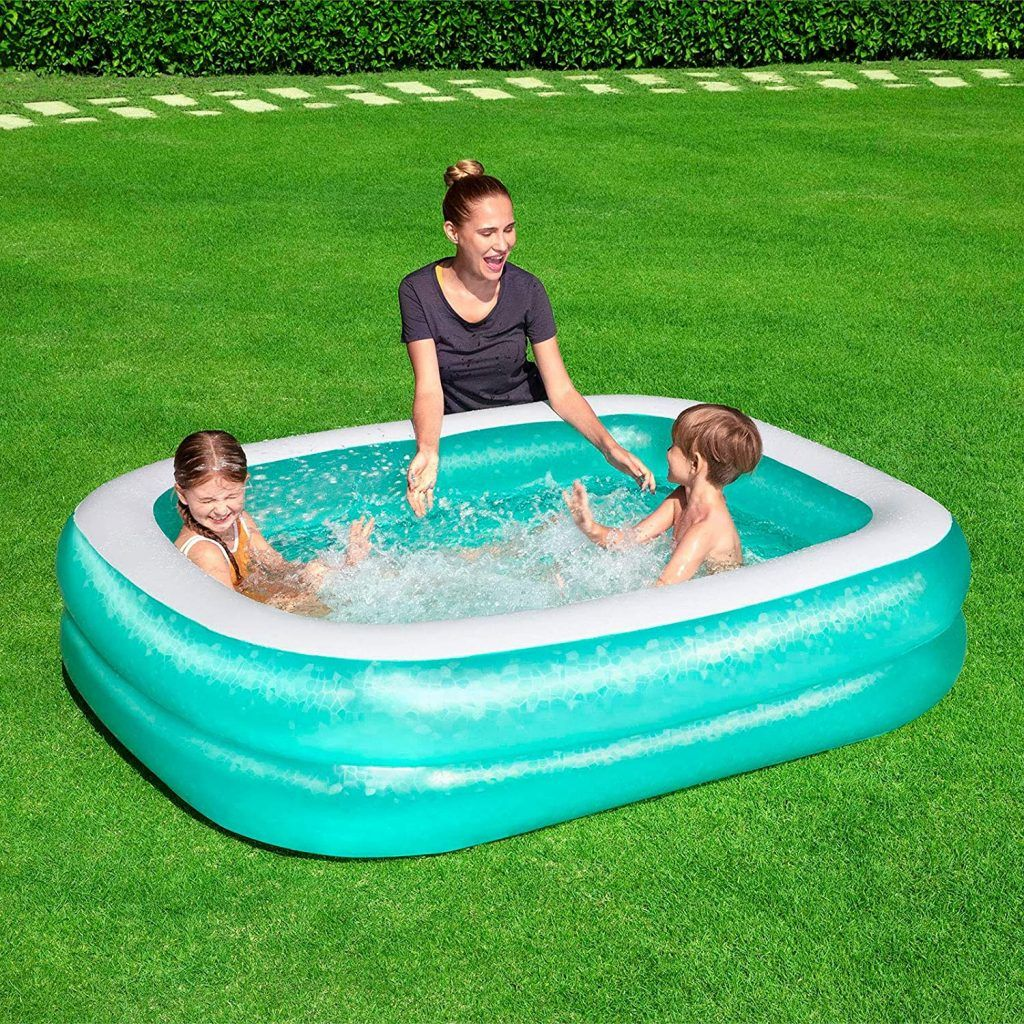 Bestway Inflatable Rectangular Family Pool with Water Capacity 450L  - Blue