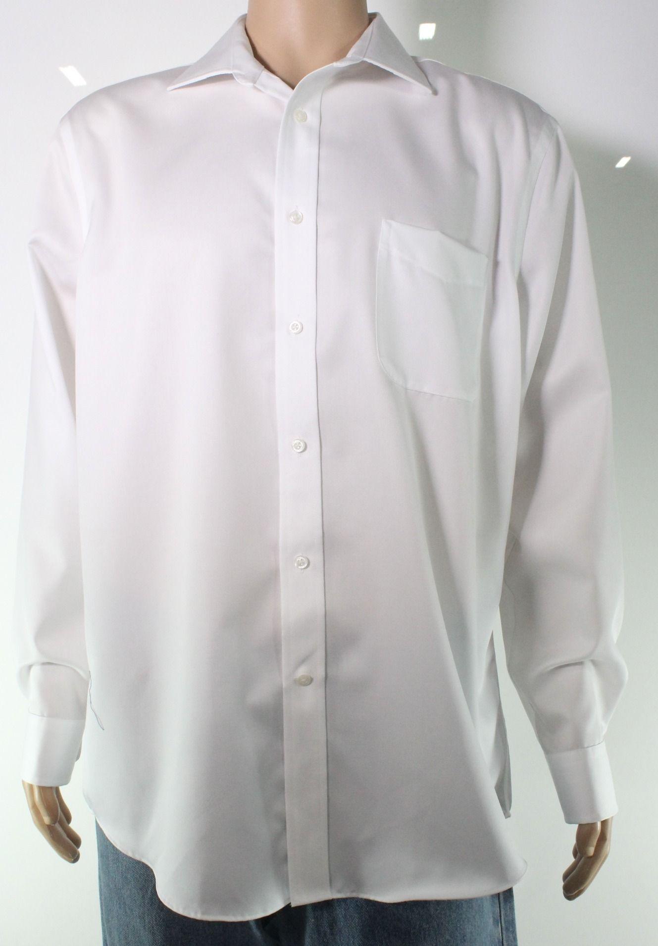 Lauren by Ralph Lauren Mens Dress Shirt White Size 17 Button-Down