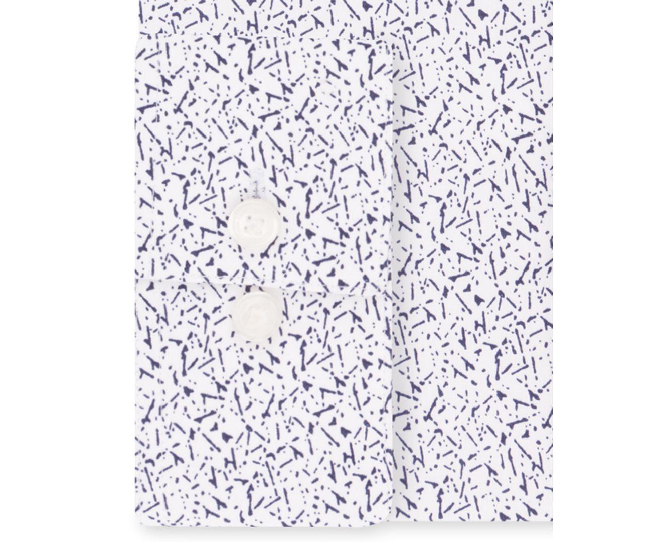 Calvin Klein Mens Dress Shirt White Size 14-14 1/2 Extreme-Slim