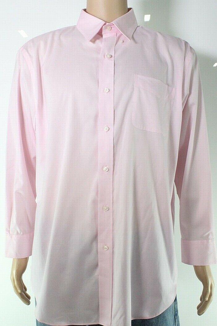 Lauren by Ralph Lauren Mens Dress Shirt Light Pink 17 1/2 Button-Down