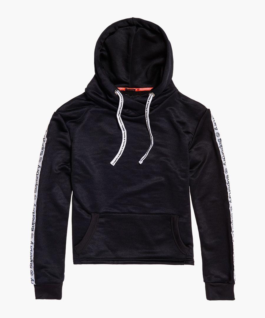 Fashion Fitness black crop hoodie