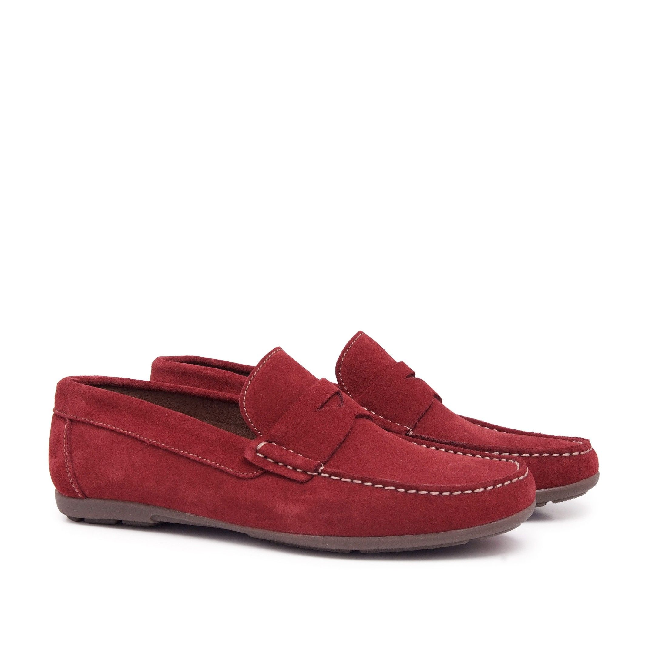 Leather Moccasin with Mask for Men