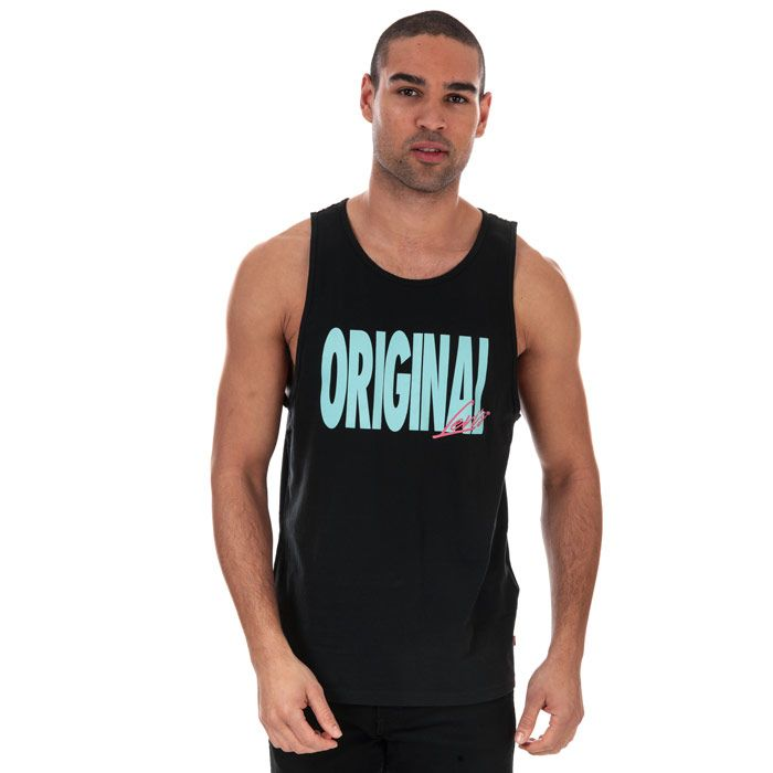 Men's Levi's Relaxed Graphic Vest In Black