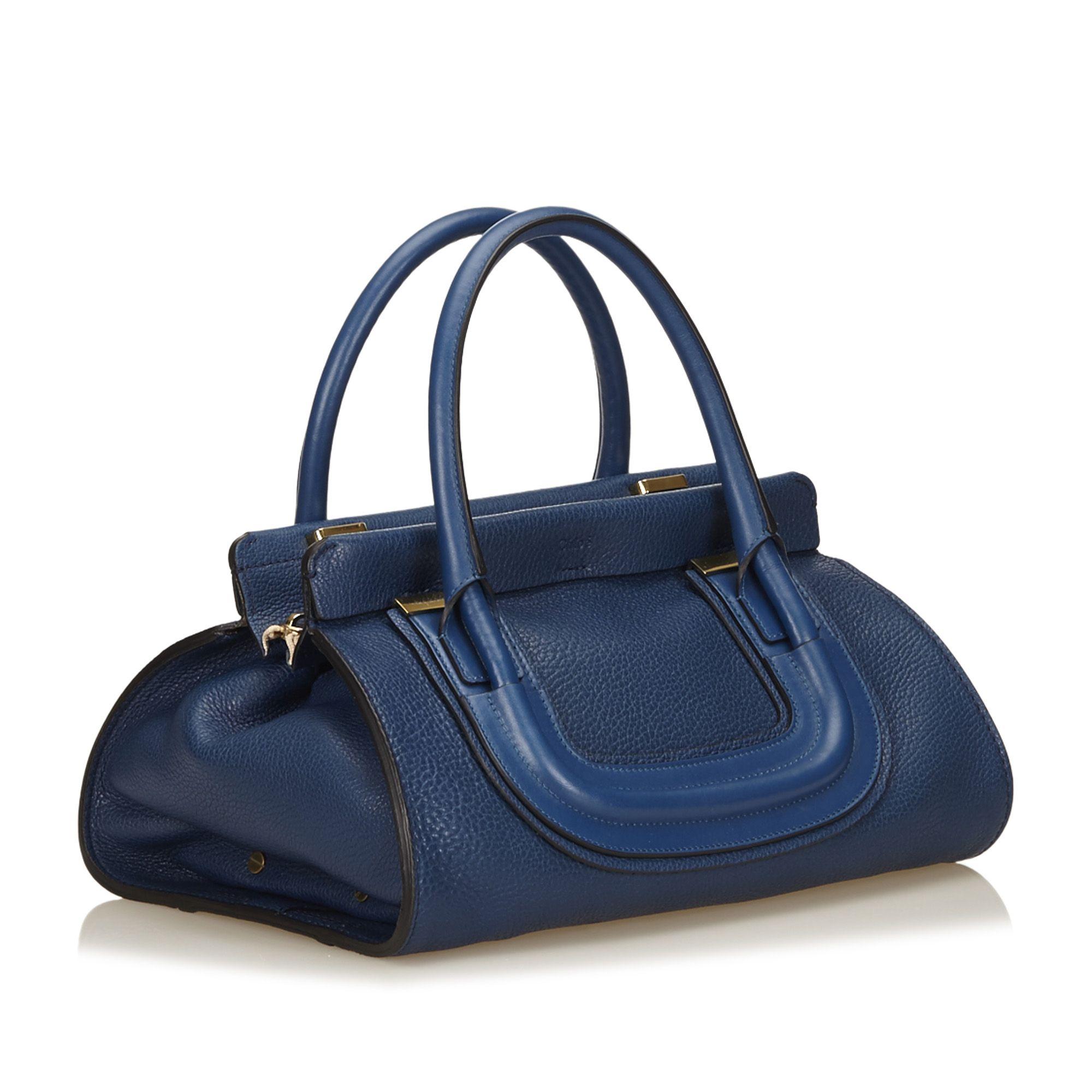 Vintage Chloe Leather Everston Blue