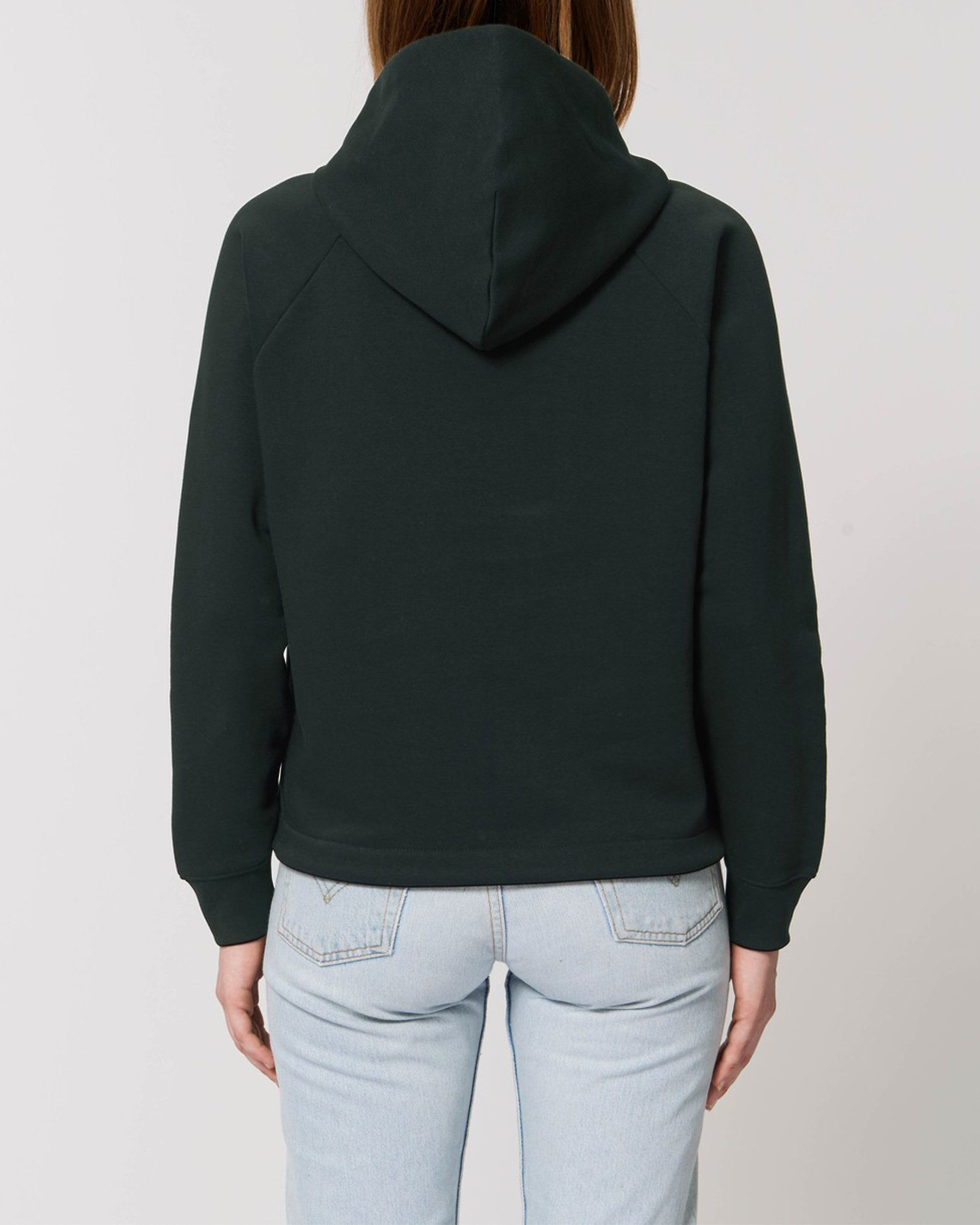 Udana Women's Cropped Hoodie in Black