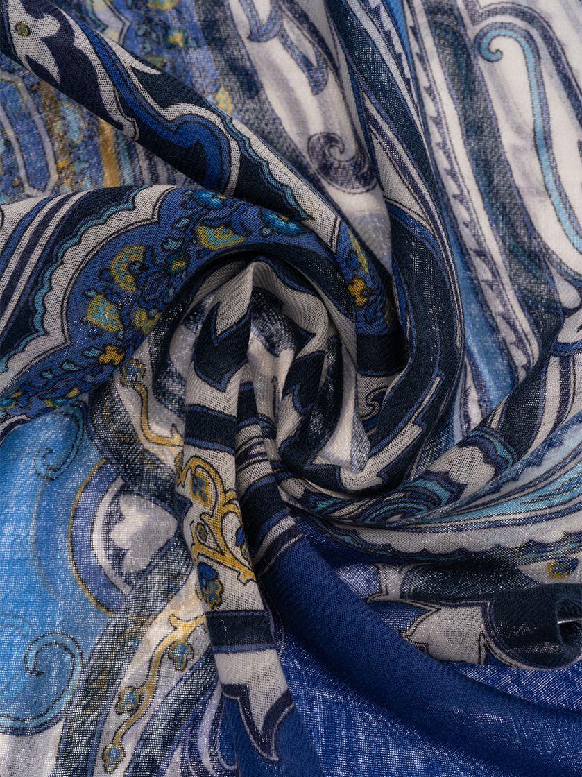 ETRO MEN'S 1000750180200 BLUE CASHMERE SCARF