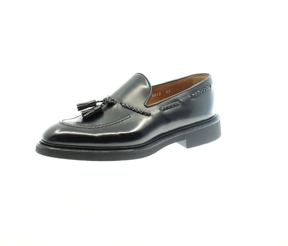 DOUCAL'S MEN'S DU1020VEROUF160N00 BLACK LEATHER LOAFERS