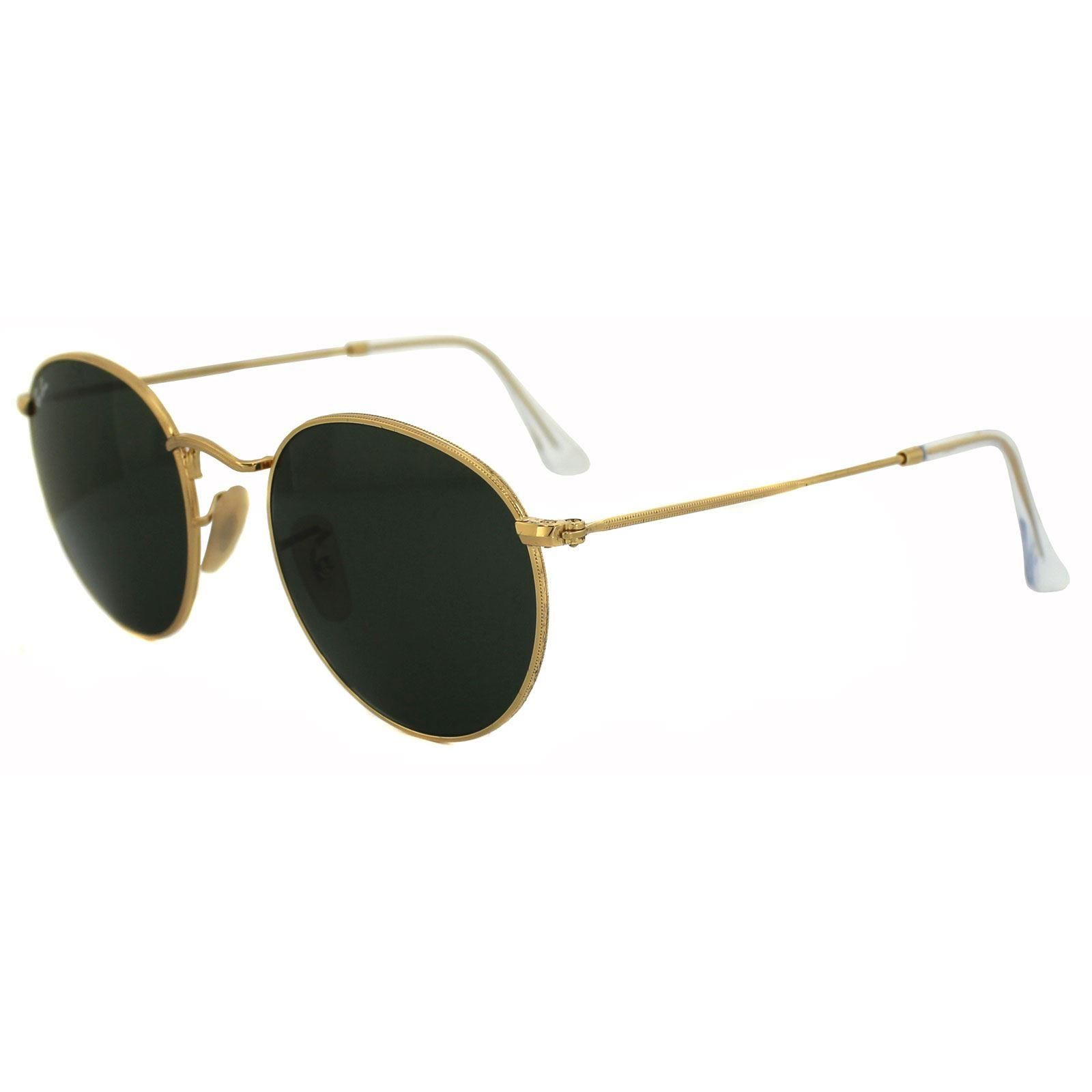 Ray-Ban Sunglasses Round Metal 3447 001 Gold Green 47mm