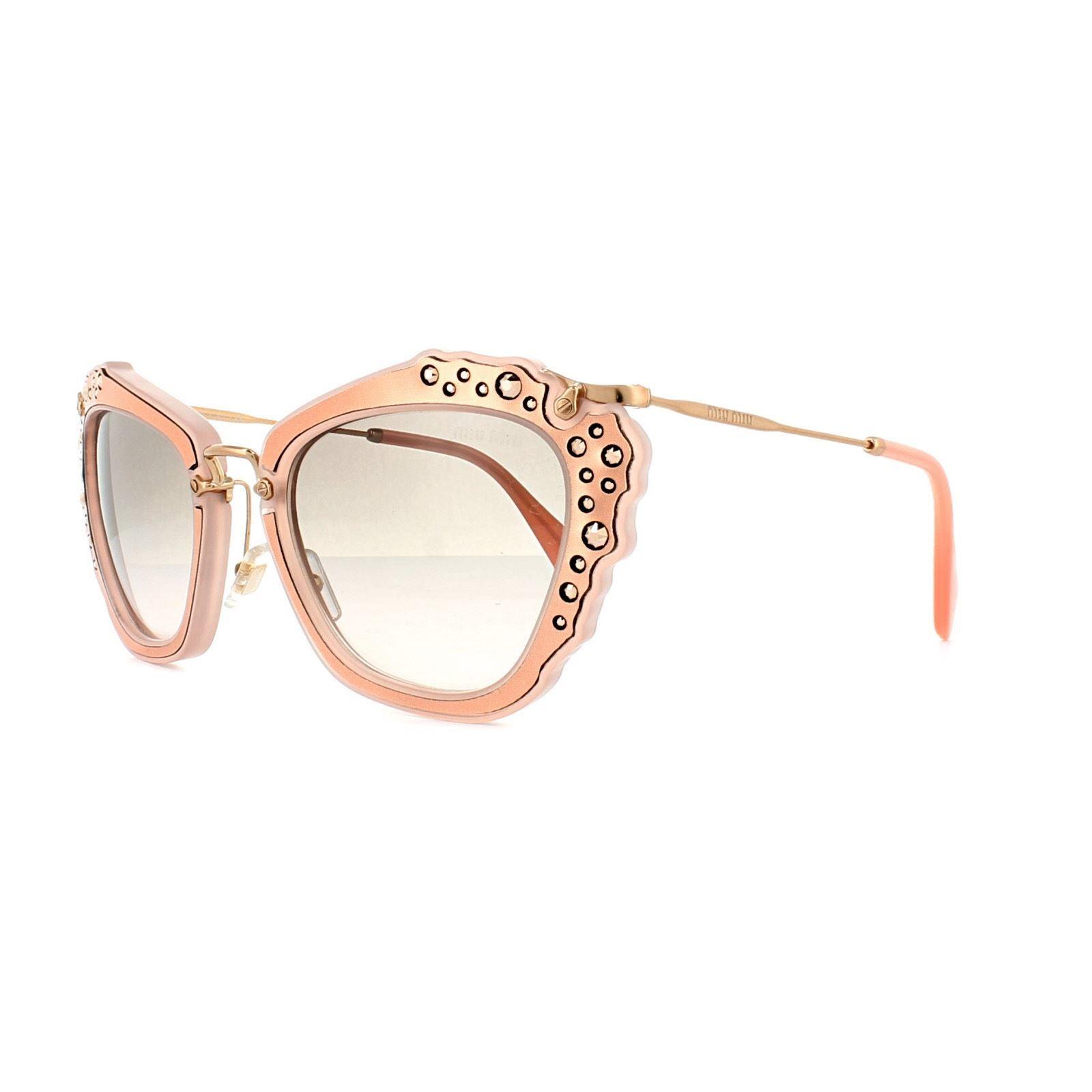 Miu Miu Sunglasses 04QS TV14K0 Matt Pink Grey Pink Gradient