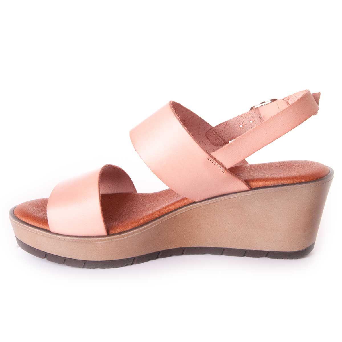Leindia Wedge Sandal in Nude