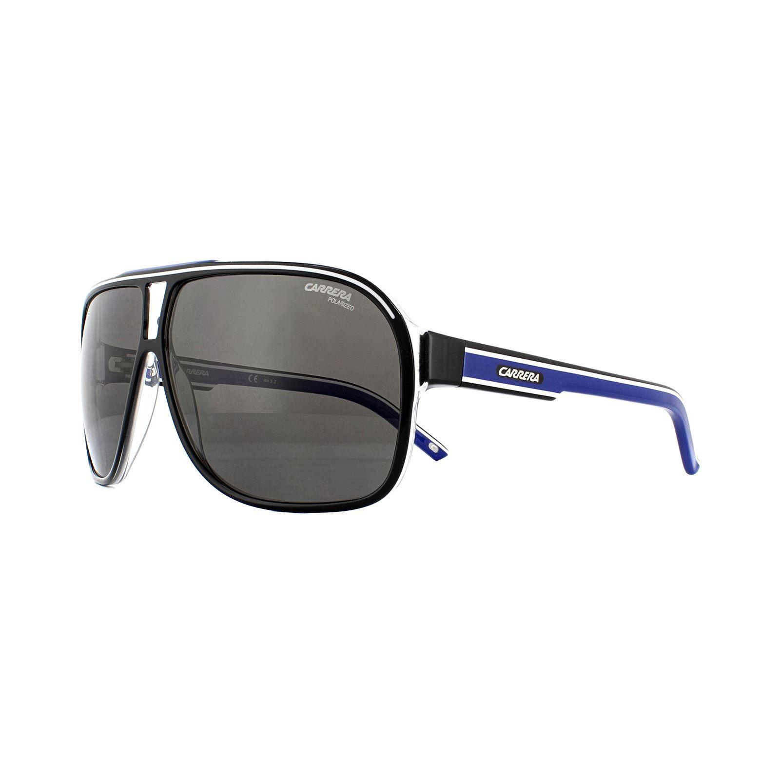 Carrera Sunglasses Grand Prix 2 T5C M9 Black Crystal White Blue Grey Polarized