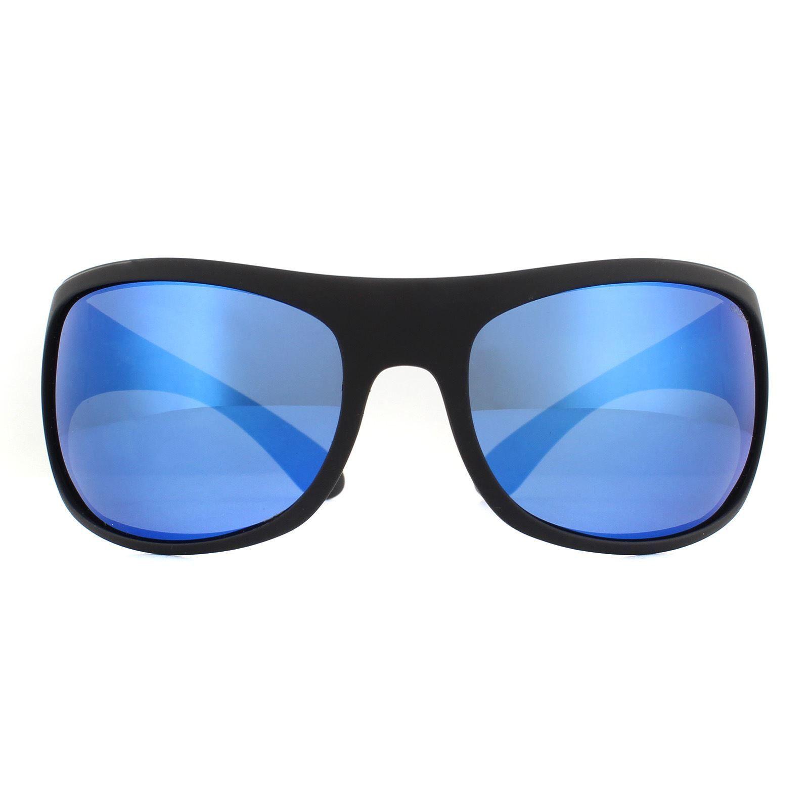 Polaroid Sunglasses 07886 003 5X Matte Black Blue Polarized