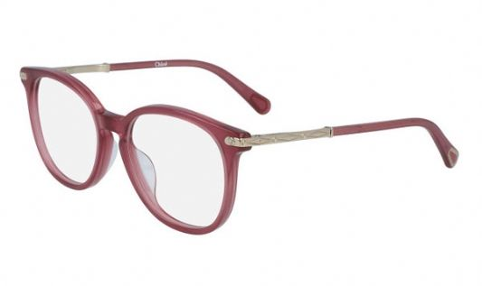 Chloe Round plastic Unisex Eyeglasses Cherry / Clear Lens