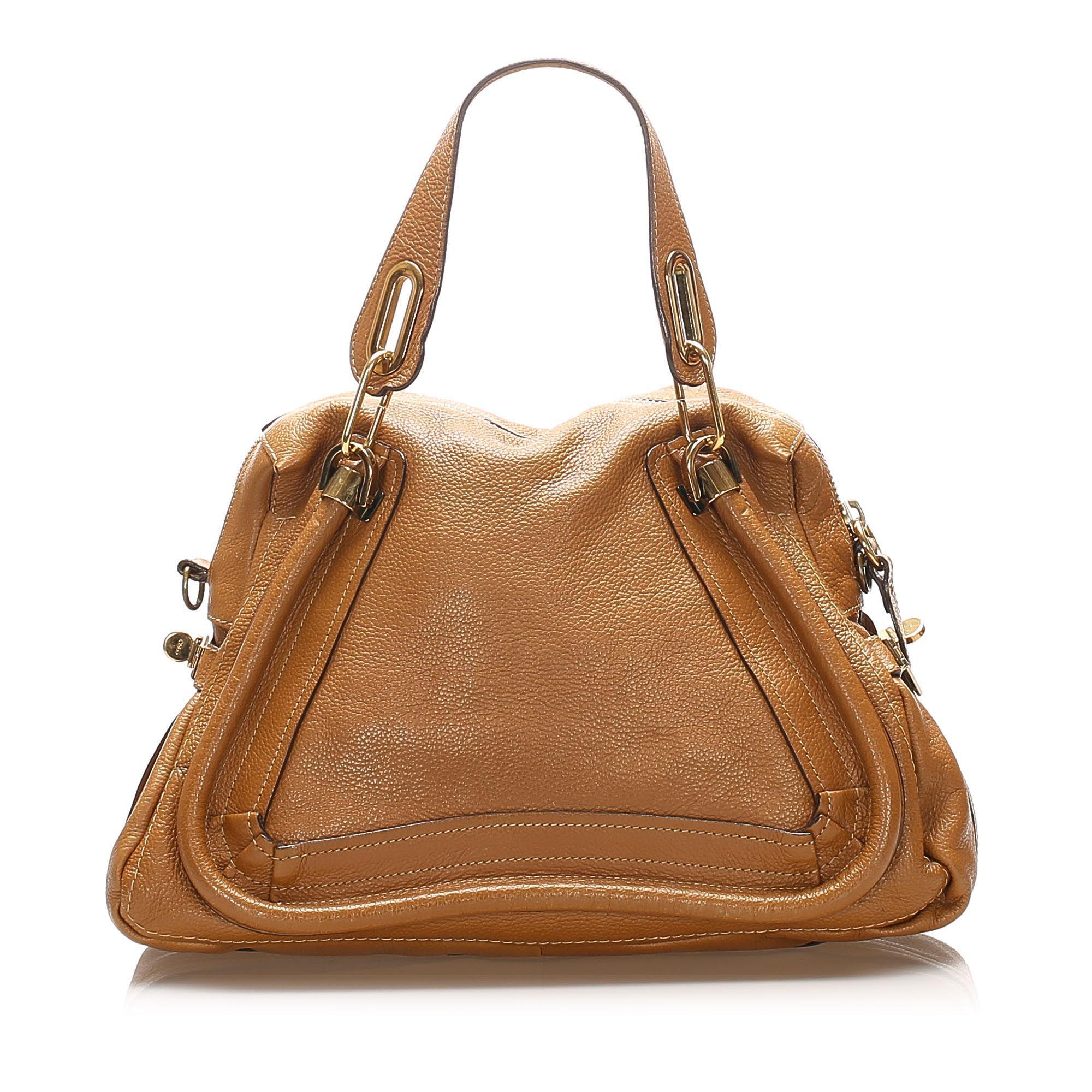 Vintage Chloe Paraty Leather Satchel Brown