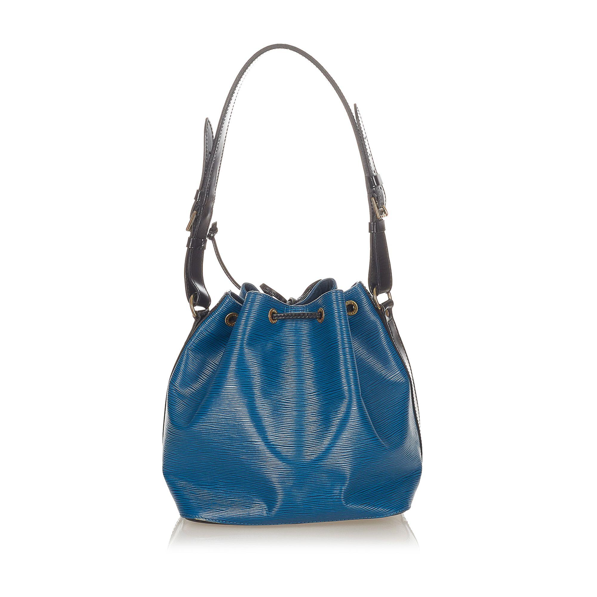 Vintage Louis Vuitton Epi Noe Bucket Bag Blue