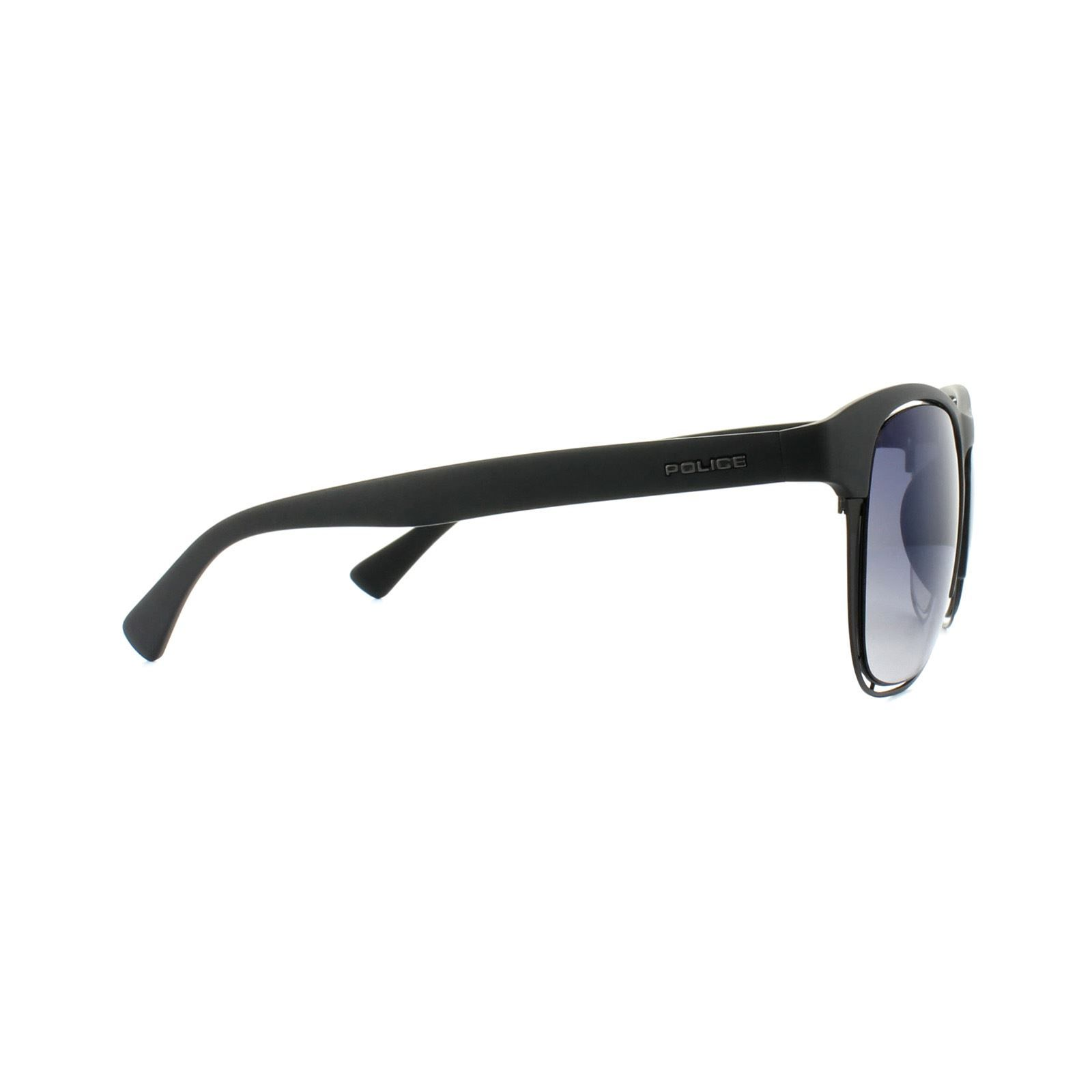 Police Sunglasses S1954 Offside 1 U28X Dark Green Blue Gradient Mirror