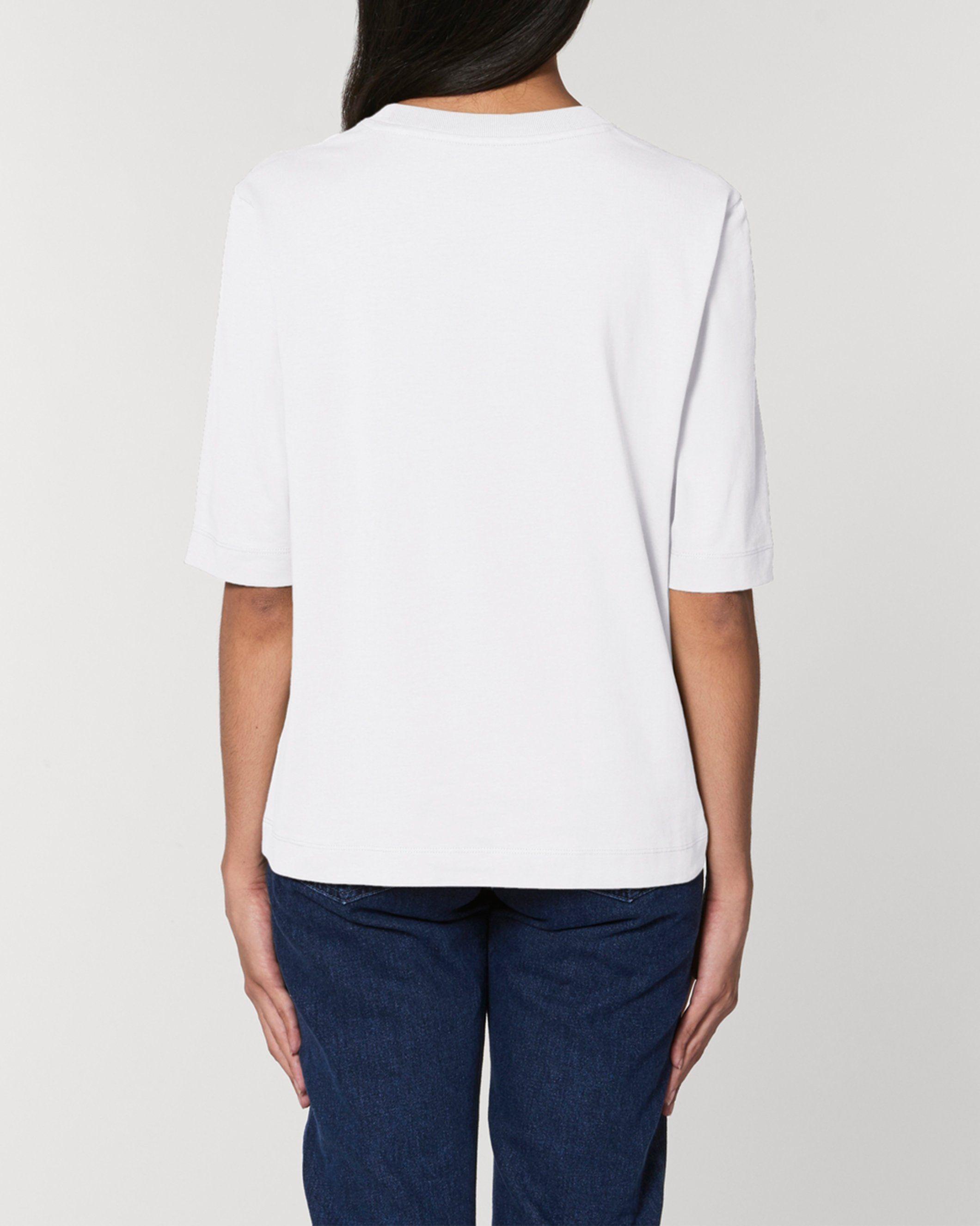 Bandham Women's Boxy Heavy T-Shirt in White