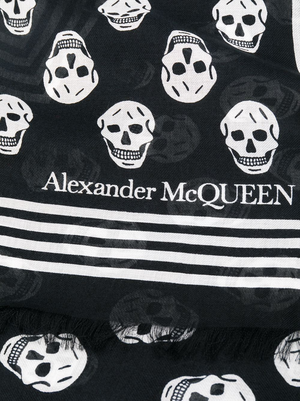 ALEXANDER MCQUEEN WOMEN'S 5909343418Q1078 BLACK MODAL SCARF