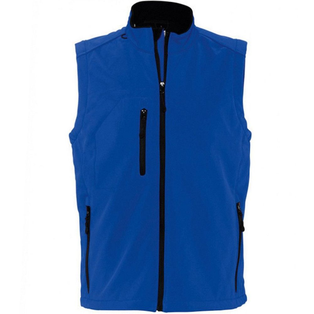 SOLS Mens Rallye Soft Shell Bodywarmer Jacket (Royal Blue)