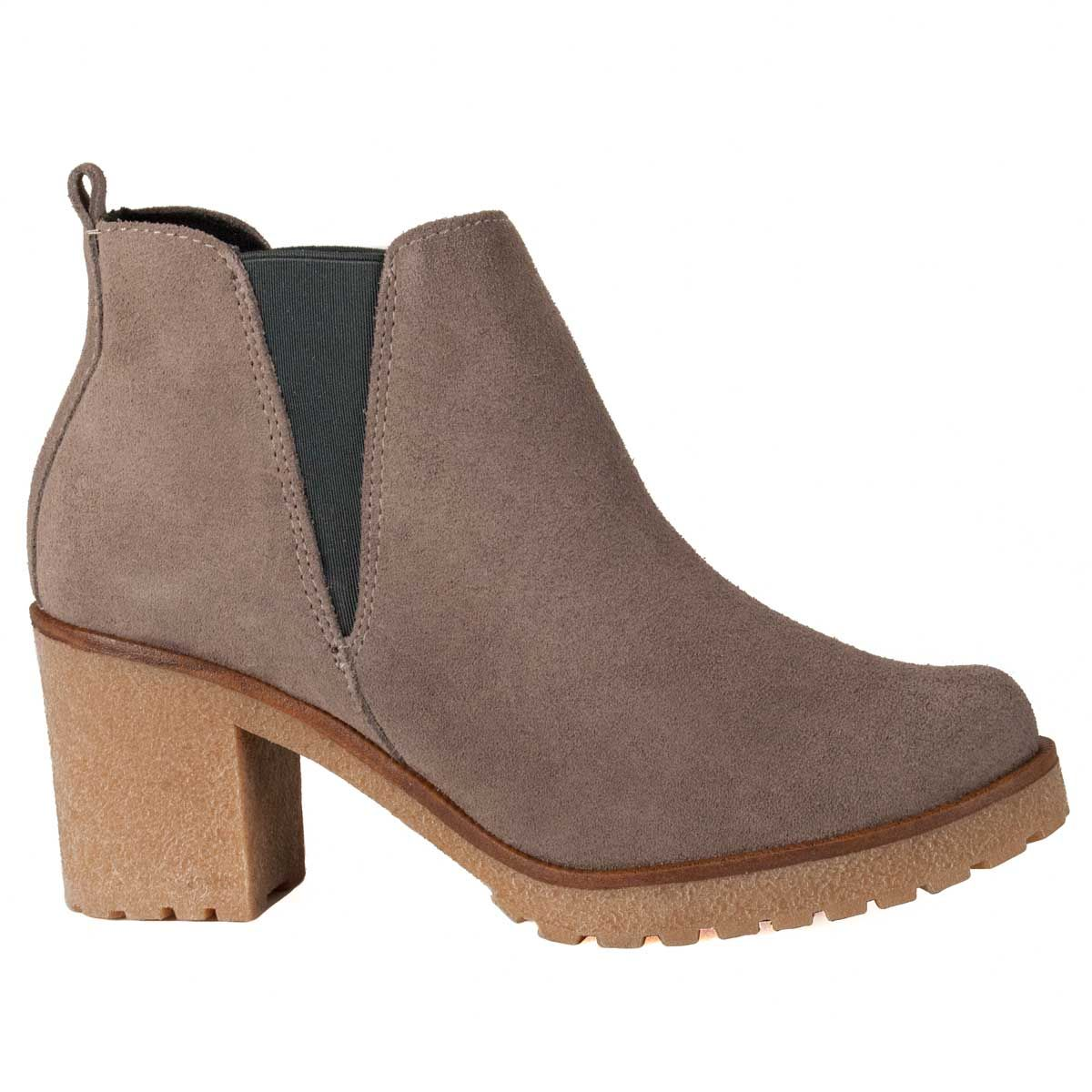 Montevita Heeled Ankle Boot in Grey