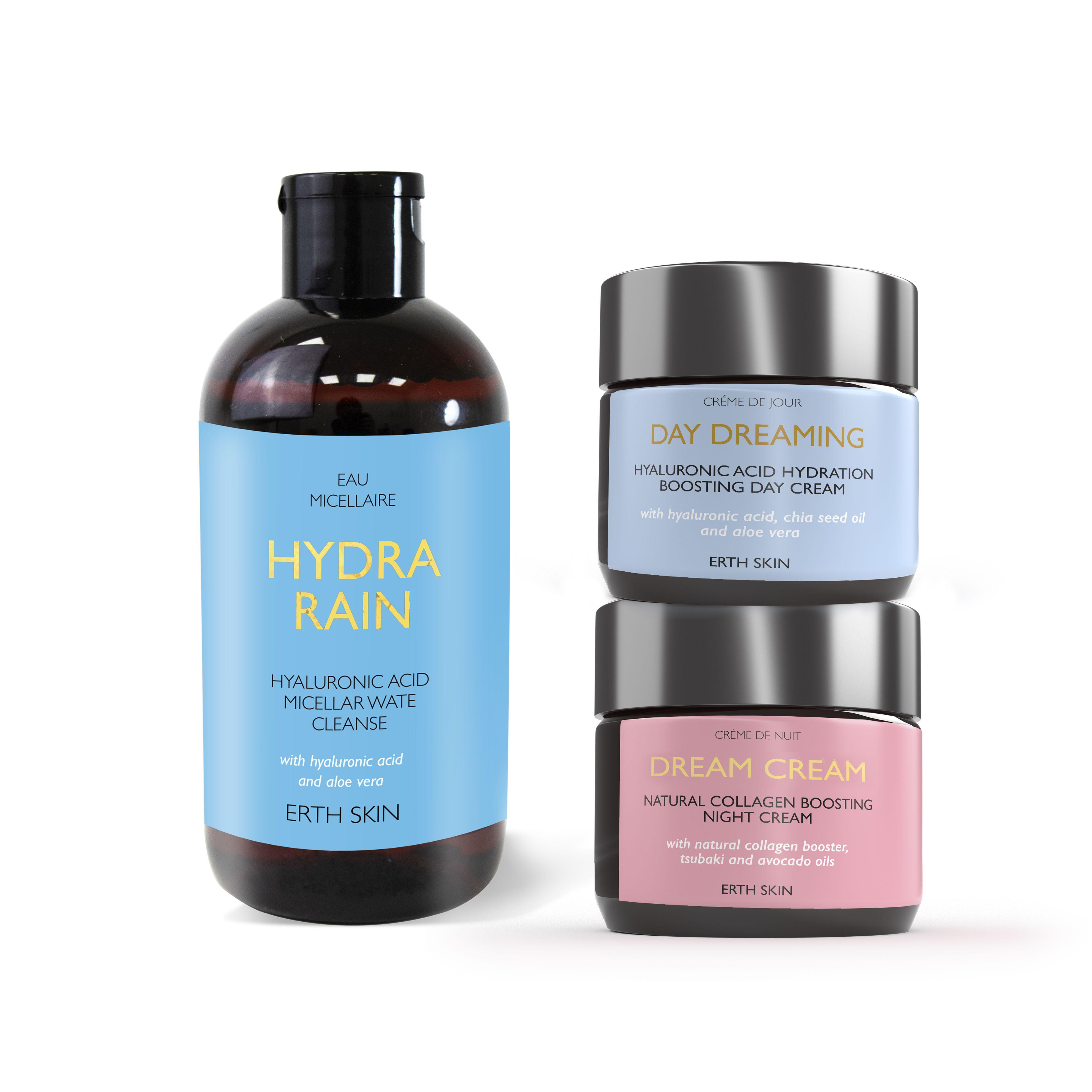 DAY DREAMING - day cream + DREAM CREAM - night cream+HYDRA RAIN - micellar cleansing water