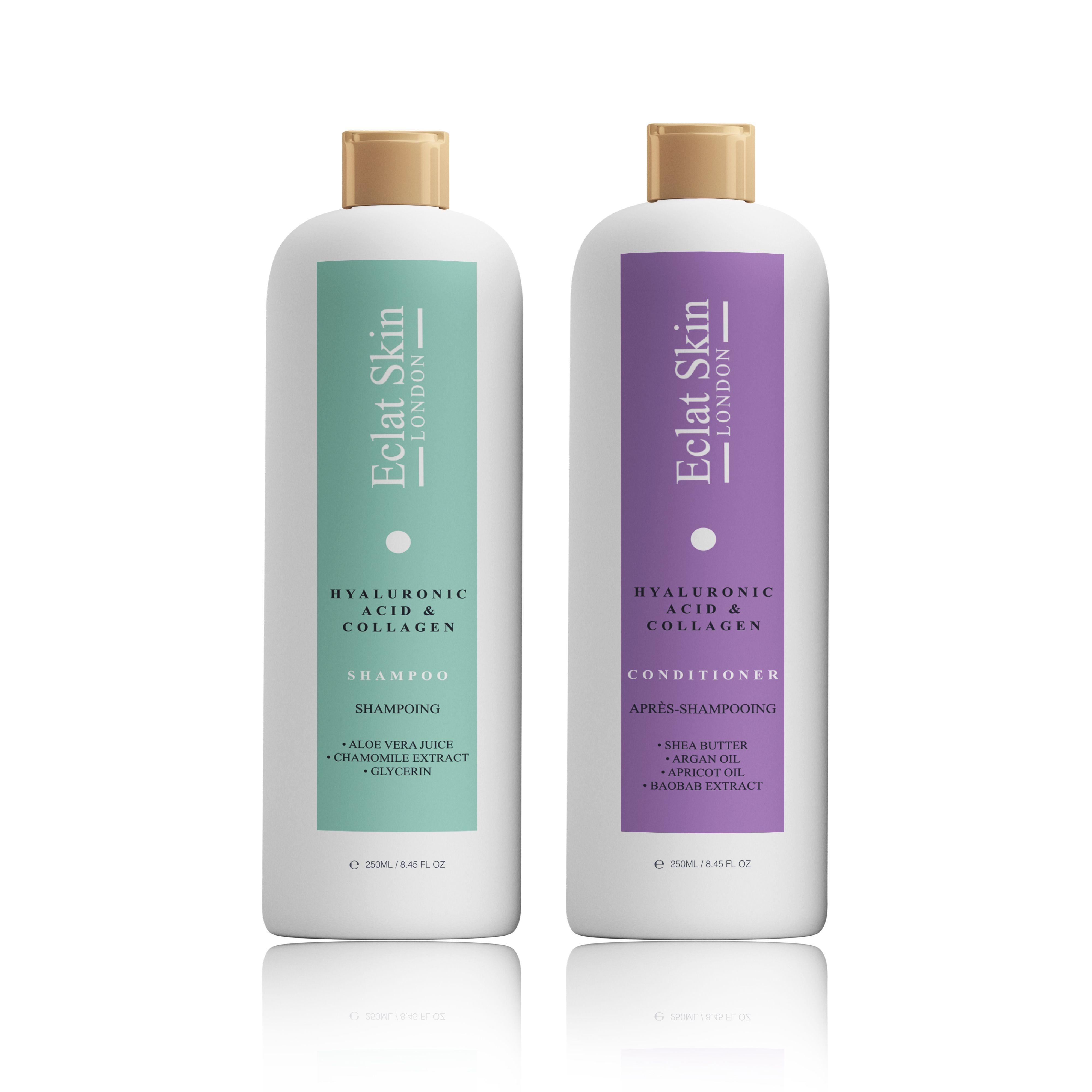 Hyaluronic Acid + Collagen Shampoo 250ml + Hyaluronic Acid + Collagen Conditioner 250ml