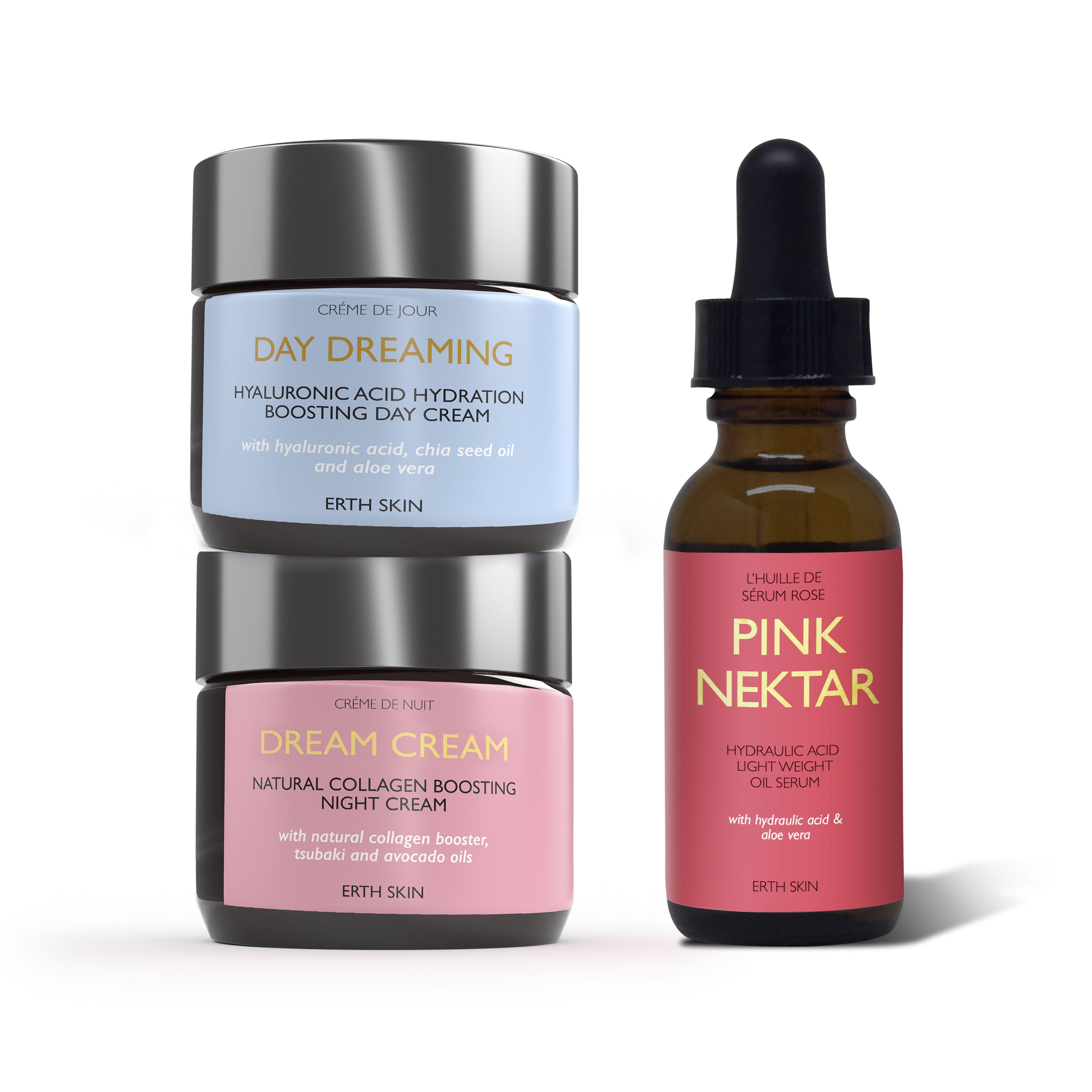 DAY DREAMING-Day cream+ DREAM CREAM- night cream+ Pink Nectar- Serum