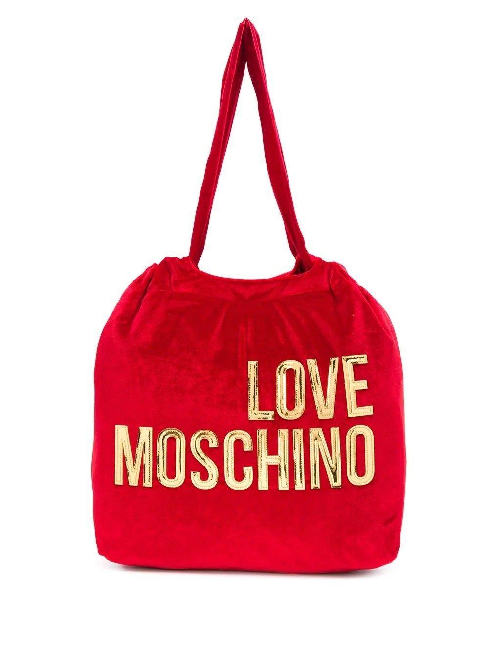 LOVE MOSCHINO WOMEN'S JC4121PP18LZ0500 RED VELVET TOTE