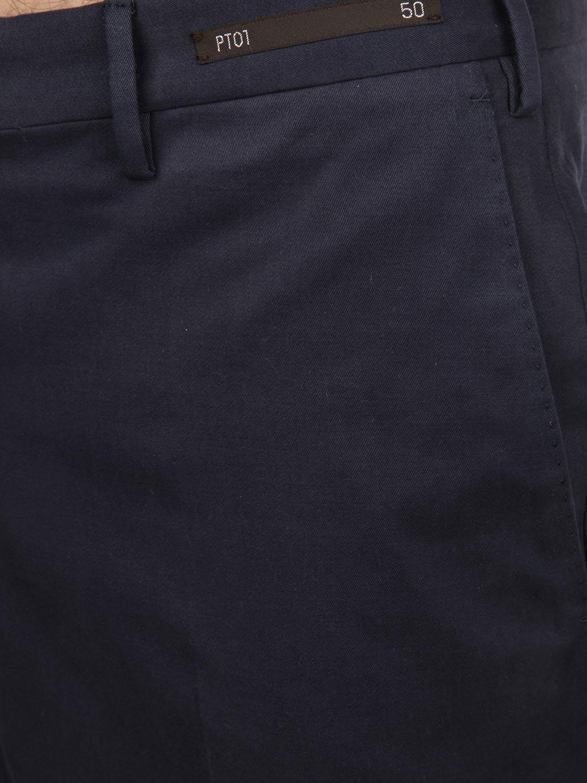 PT01 MEN'S DS01Z00MAGTU660360 BLUE COTTON PANTS