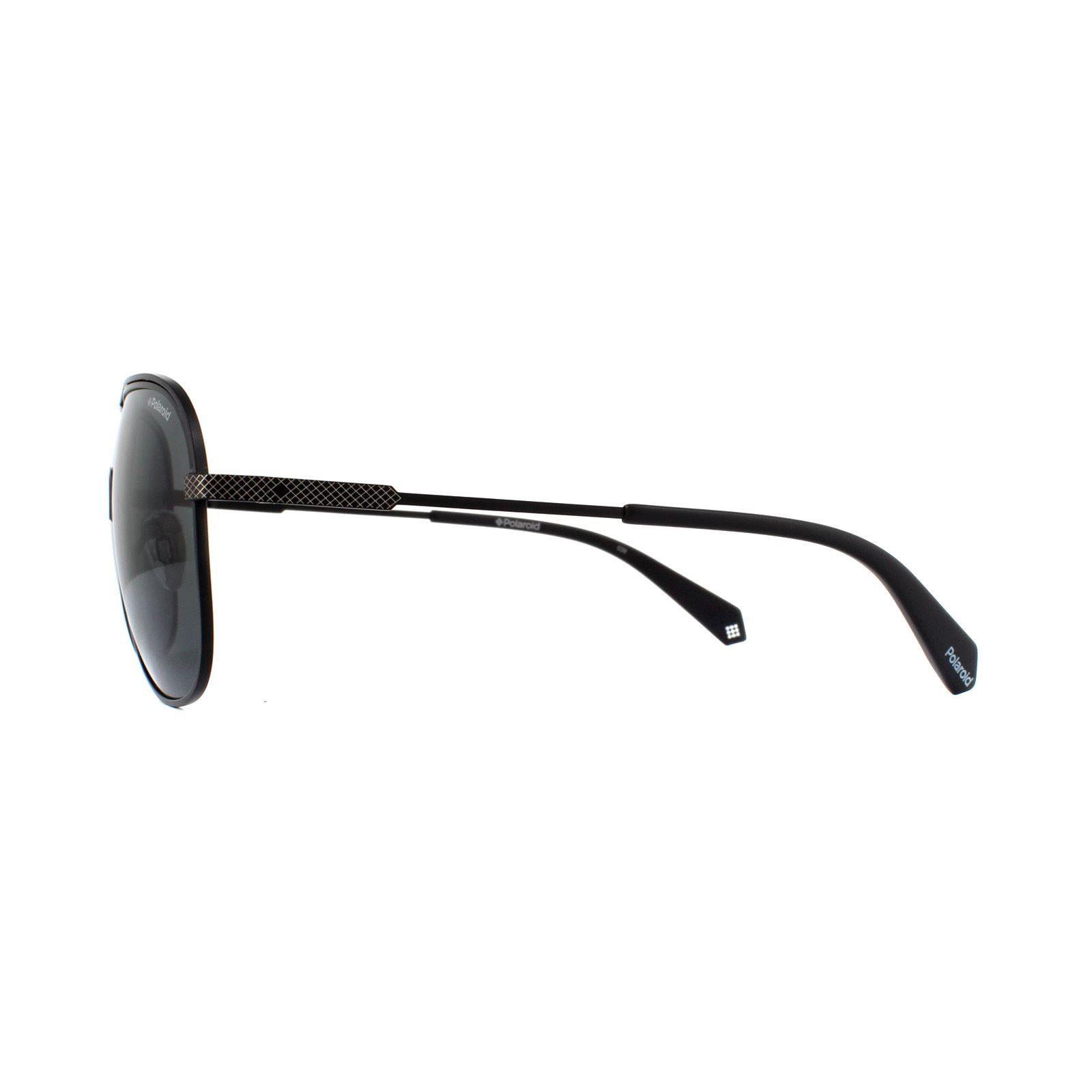 Polaroid Sunglasses PLD 2055/S 003 M9 Matt Black Grey Polarized