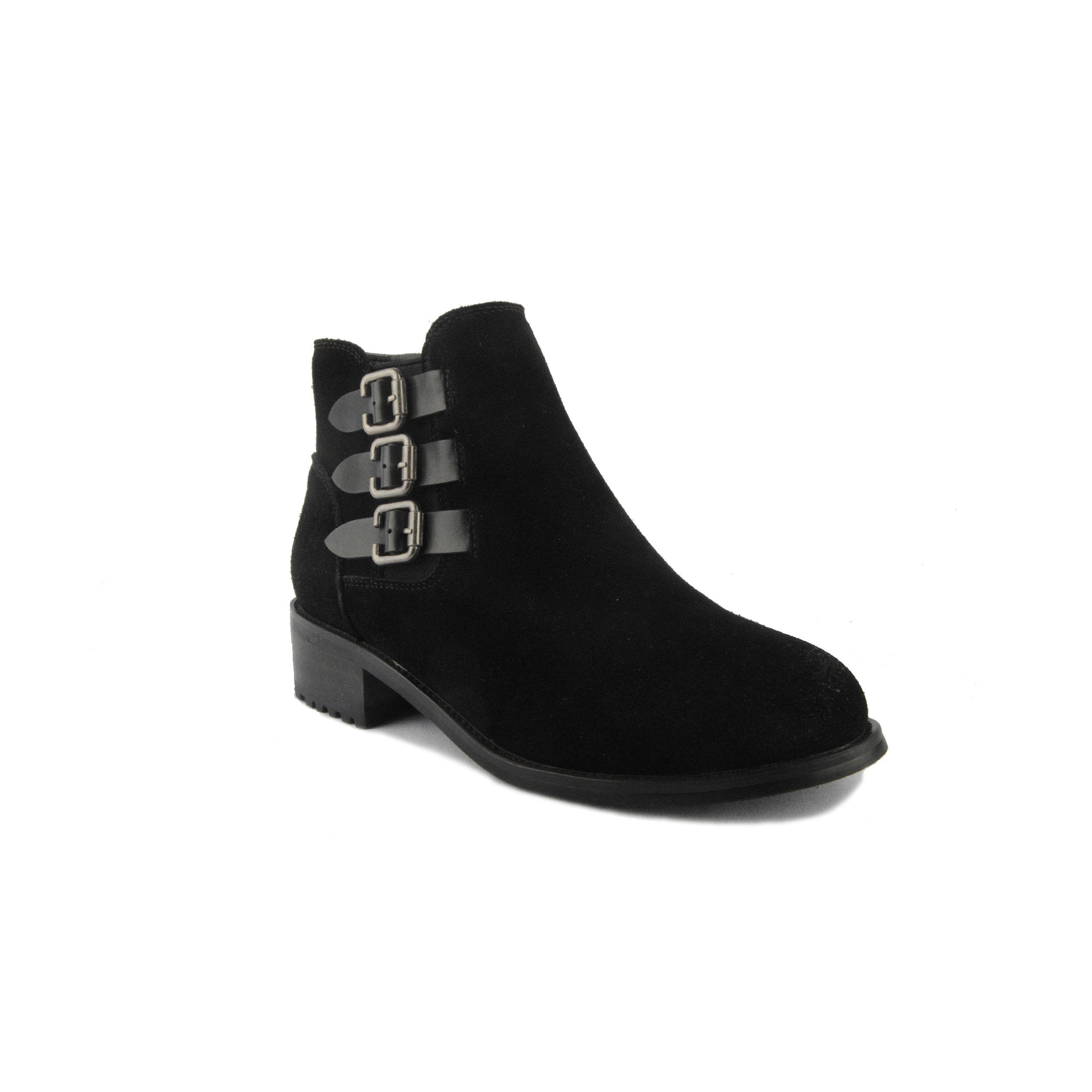 Montevita Buckle Ankle Boot in Black