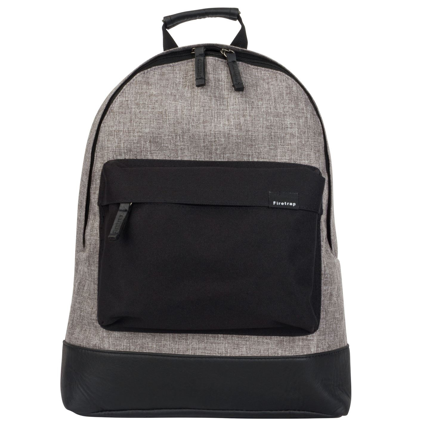 Firetrap Classic Backpack Bag Large Zipped Compartment Pockets Everyday