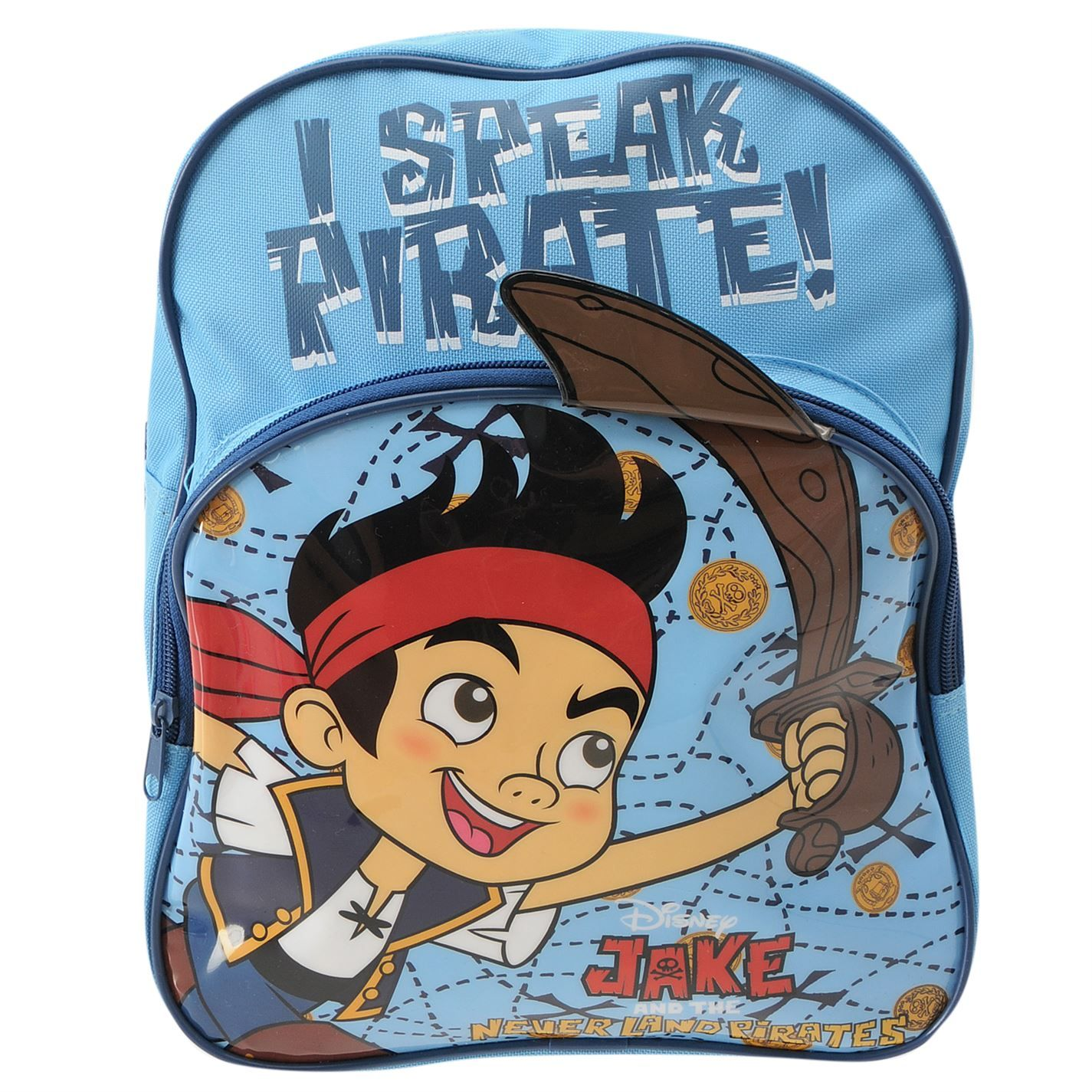 Character Kids Junior Pocket Rucksack Backpack Spotted Zips Colourful