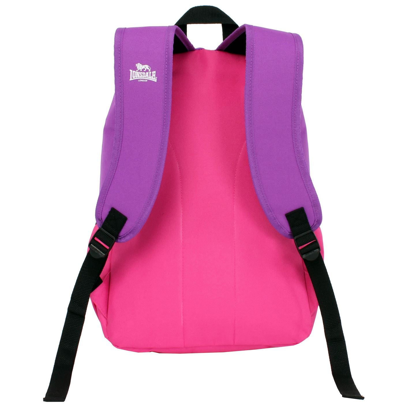 Lonsdale Pocket Back Pack Travel Luggage Everyday Casual Bag Accessories