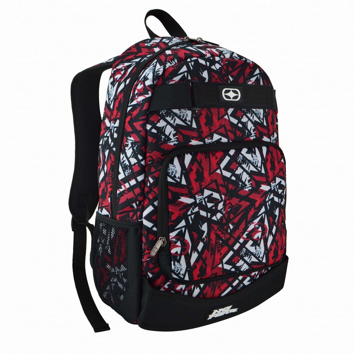 No Fear Print Skate Backpack Bag