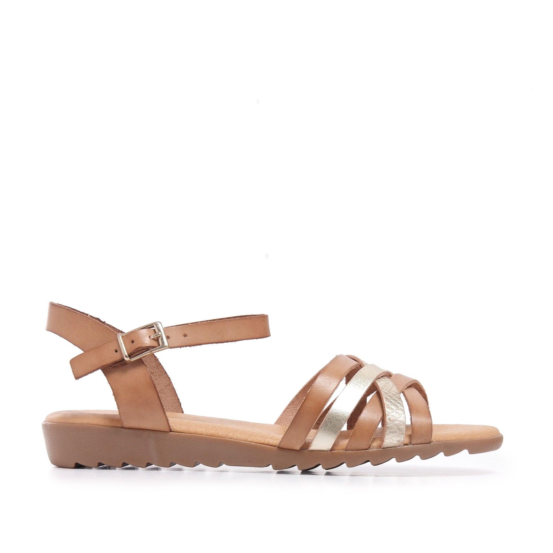 Camel Leather Sandals Flip Flop Women Eva Lopez