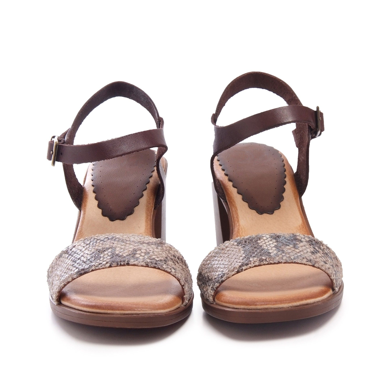 Leather Peep Toe Sandals Women Ladies Eva López