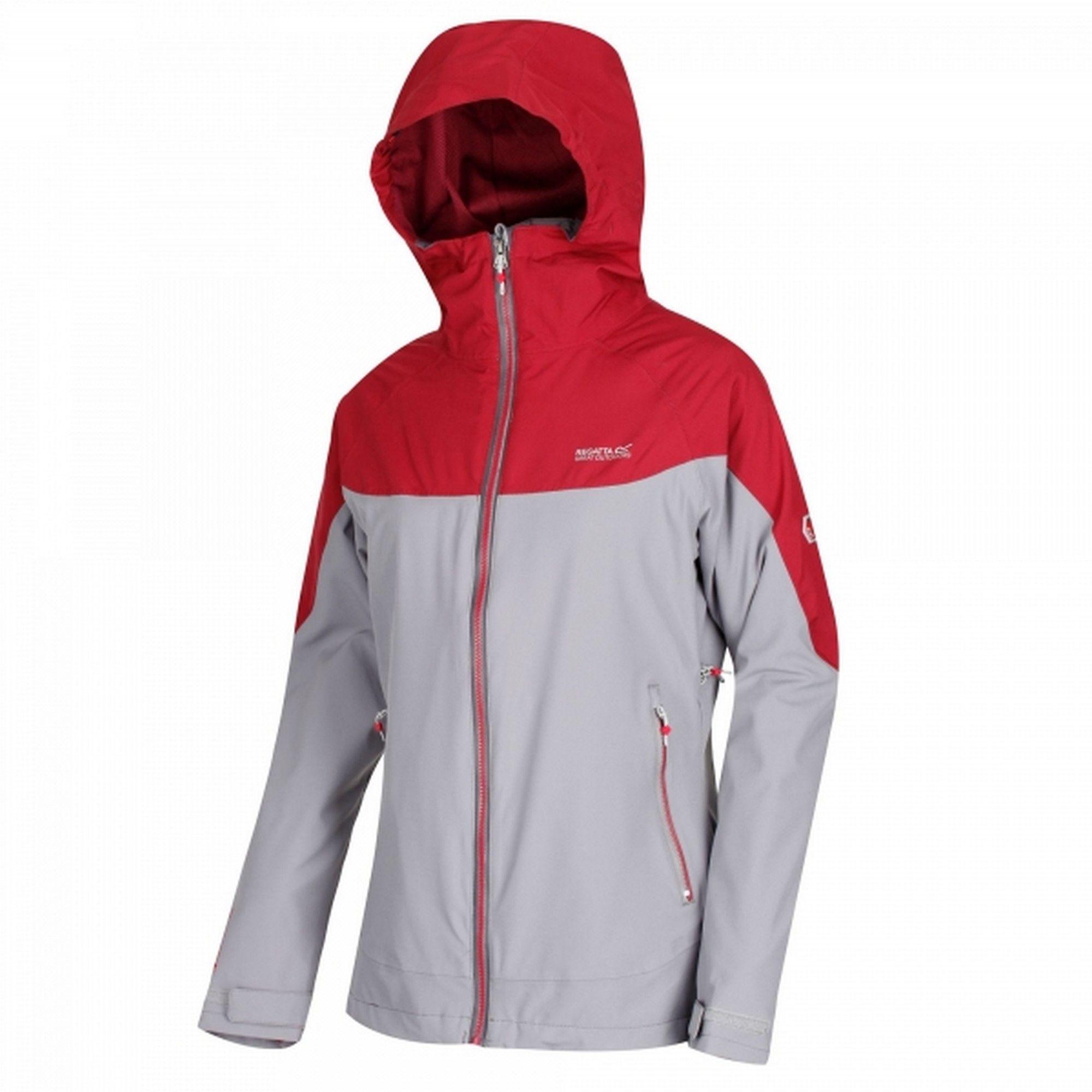 Regatta Womens/Ladies Wentwood III Hooded Jacket (Papyrus White/Raspberry Red)