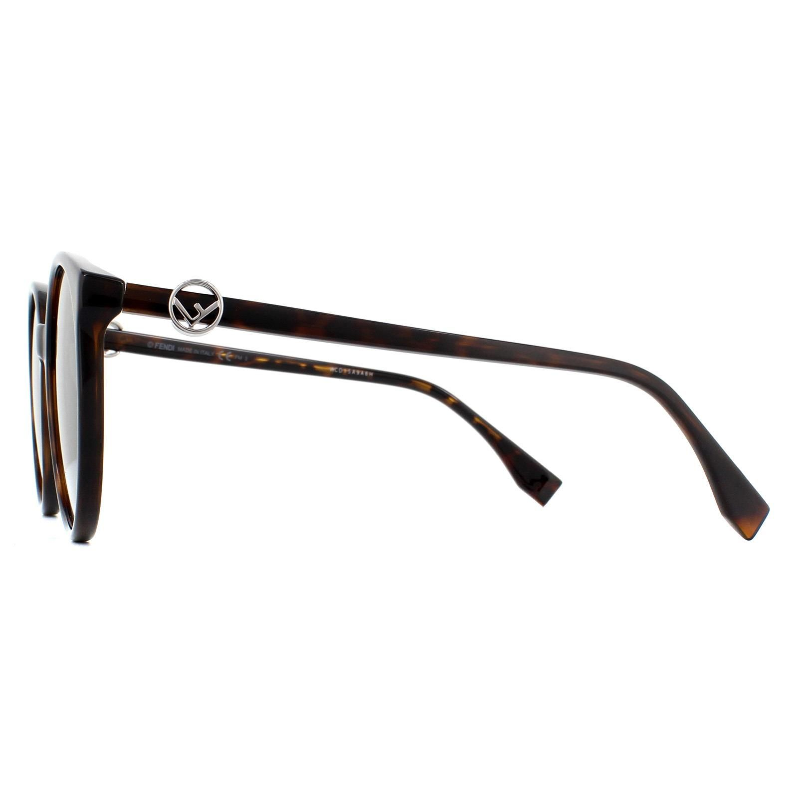 Fendi Sunglasses FF 0288/S 086 9O Dark Havana Grey Gradient